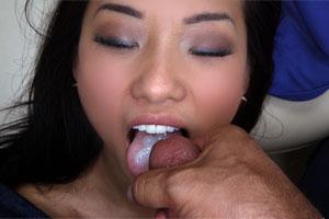 asian cum in mouth
